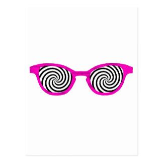 Hypnotize Sunglasses Magenta Rim The MUSEUM Zazzle Postcards