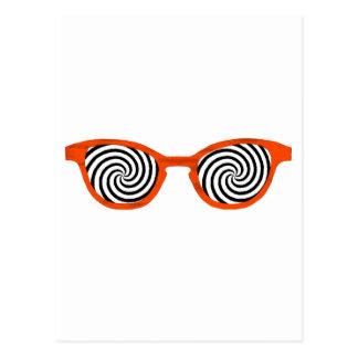 Hypnotize Sunglasses Orange Rim The MUSEUM Zazzle Postcard