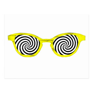 Hypnotize Sunglasses Yellow Rim The MUSEUM Zazzle Post Cards