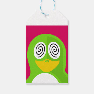 Hypnotized Penguin Gift Tags