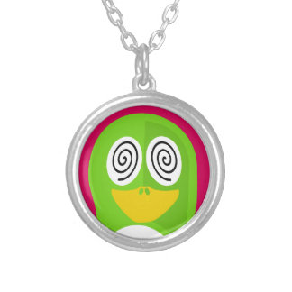 Hypnotized Penguin Silver Plated Necklace