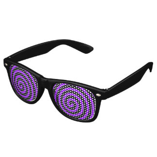 Hypnotized Purple Black Retro Sunglasses