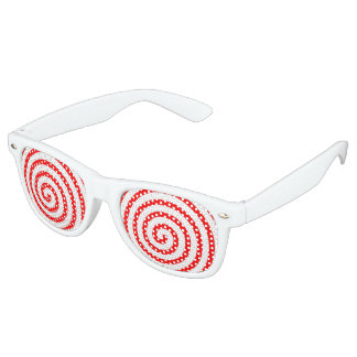 Hypnotized Red Retro Sunglasses