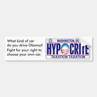 hypocrite, What kind of car do you drive Obama?... Bumper Sticker