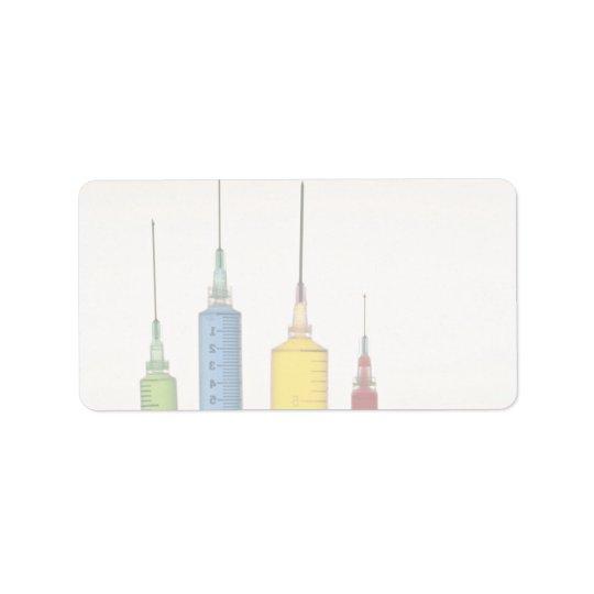 Hypodermic needles label