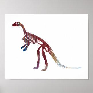 hypsilophodon skeleton poster