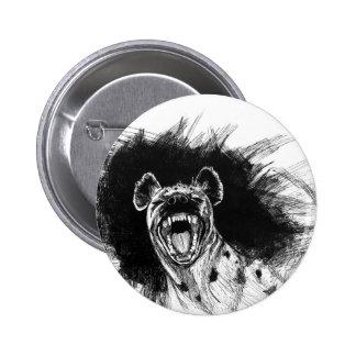 Hysterical Hyena 2 Inch Round Button
