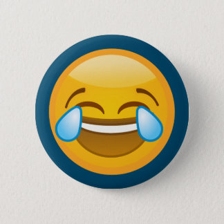 Hysterically Laughing Emoj 2 Inch Round Button