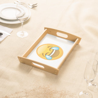 Hysterically Laughing Emoj Serving Tray