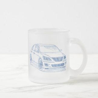 Hyu Genesis Sdn 2009+ Frosted Glass Coffee Mug