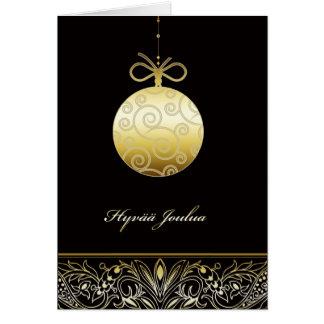 hyvää joulua , Merry christmas in Finnish Card