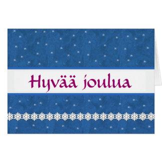 Hyvää joulua Snowflakes BLUE  Background Card