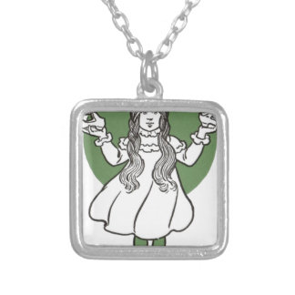i027_wizard silver plated necklace