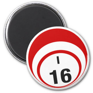 I16 bingo ball fridge magnet