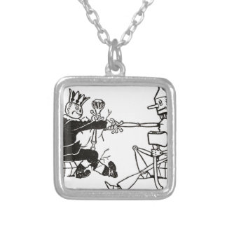 i_000n land silver plated necklace