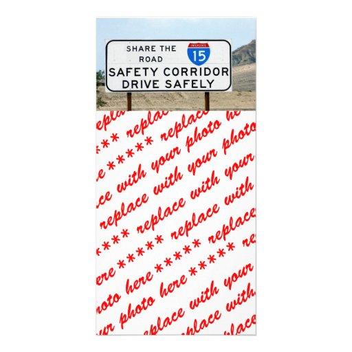 I-15 Safety Corridor Photo Card Template