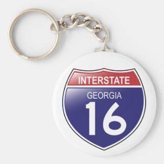 I-16 Georgia Keychain