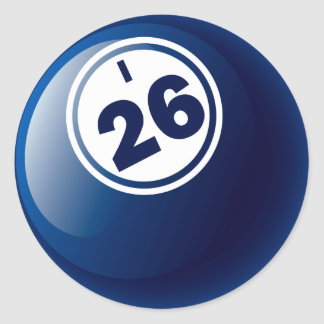 I 26 BINGO BALL CLASSIC ROUND STICKER