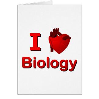 I <3 Biology Card