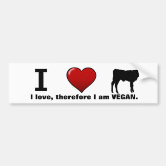 I <3 calves (Animal Rights design by Marlaina) Bumper Sticker