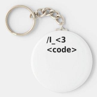 I <3 Code Keychain