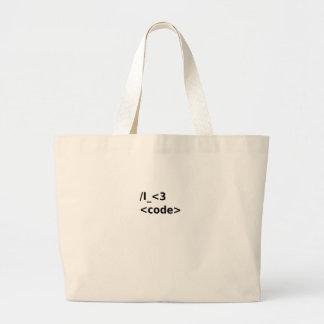 I <3 Code Large Tote Bag