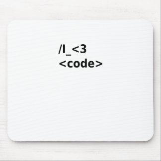 I <3 Code Mouse Pad