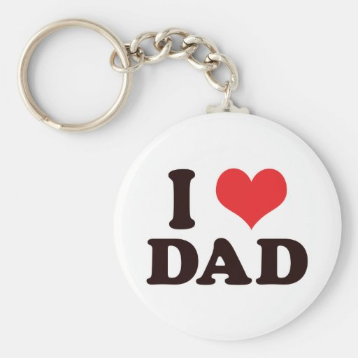 I <3 Dad Keychains