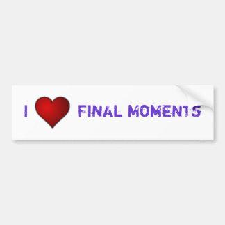 I <3 Final Moments Bumper Sticker