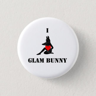 I <3 Glam Bunny Small Button