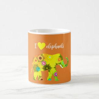 I  <3 (Heart) Elephants Coffee Mug