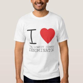 I <3 l'affichage à cristaux liquides t-shirts