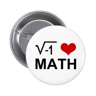 I <3 Math 2 Inch Round Button