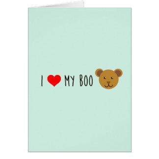 I <3 My Boo Bear Greeting Card