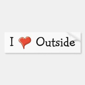 I <3 Outside Bumper Sticker