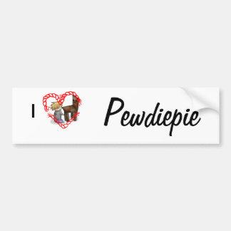 I <3 Pewdiepie Bumper Sticker