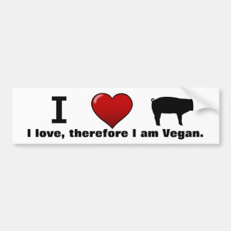 I <3 Pigs (Animal Rights Media design by Marlaina) Bumper Sticker