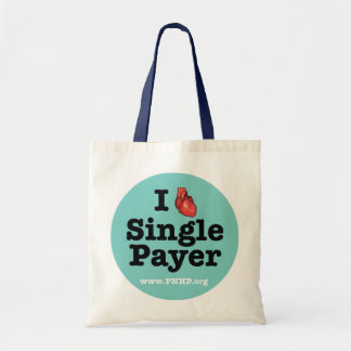 I <3 Single Payer Tote Budget Tote Bag