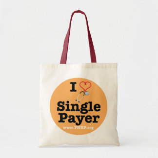 I <3 Single Payer Tote Budget Tote Bag