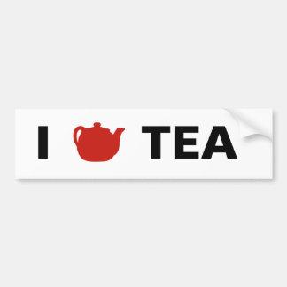 I <3 Tea Bumper Sticker