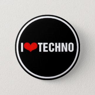 I <3 Techno 2 Inch Round Button