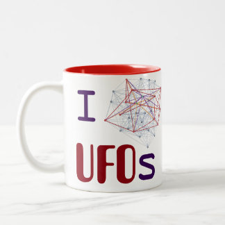 I <3 UFOs Two-Tone Coffee Mug