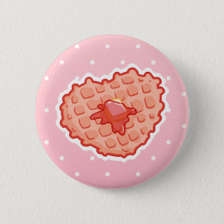 I <3 Waffle 2 Inch Round Button