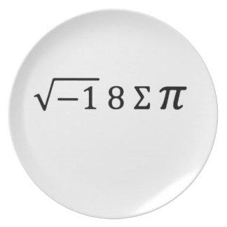I 8 Sum Pi Plate