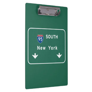 I-95 Interstate New York Empire State NY Highway Clipboards