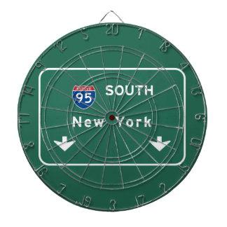 I-95 Interstate New York Empire State NY Highway Dart Board