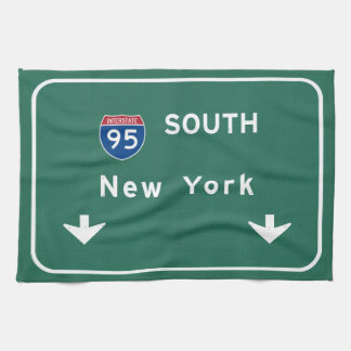 I-95 Interstate New York Empire State NY Highway Hand Towel