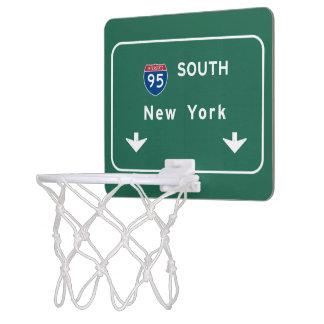 I-95 Interstate New York Empire State NY Highway Mini Basketball Hoop