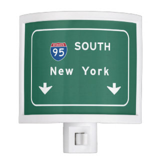I-95 Interstate New York Empire State NY Highway Night Light