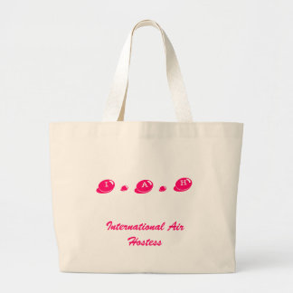 I . A . H, International Air Hostess Large Tote Bag